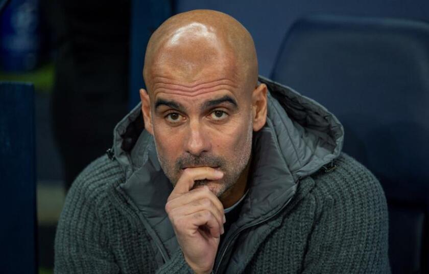 El entrenador Pep Guardiola del Manchester City durante un partido. EFE/Archivo