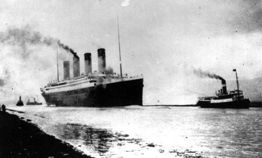 The luxury liner leaves Southampton, England, on April 10, 1912.