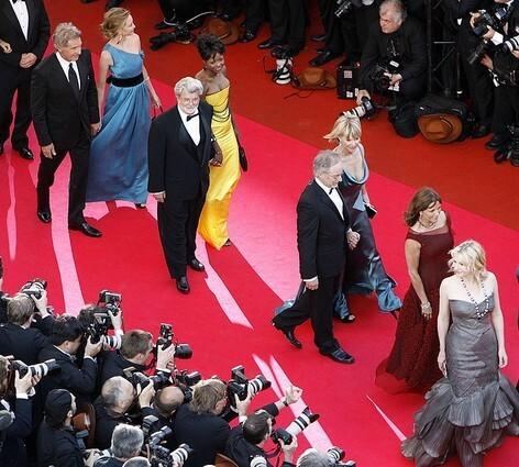 Kate Capshaw, Steven Spielberg, George Lucas, Mellody Hobson, Calista Flockhart, Harrison Ford, Karen Allen, Cate Blanchett