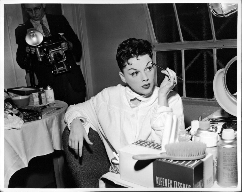 Judy Garland prepares to open the 1957 season at the Greek Theatre.