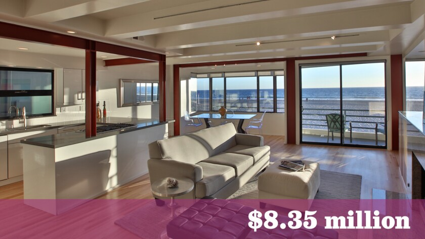 Songwriting duo John Trivers and Liz Myers have sold their custom-built home in Hermosa Beach for $8.35 million.