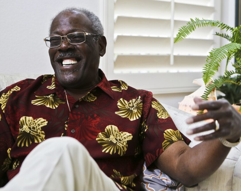 Shelby Jacobs, who turns 80 this week, was one of the first black engineers to work on NASA's Apollo project at Rocketdyne in Canoga Park. Jacobs helped designed a remote camera for the unmanned Apollo 6 mission and later worked on space shuttle projects.  Photo by Don Boomer
