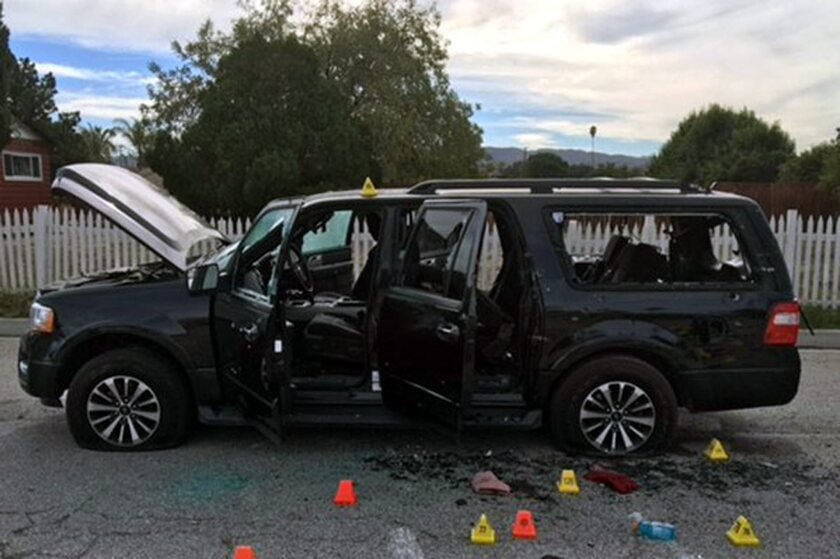 Black SUV used by Syed Farook and Tashfeen Malik