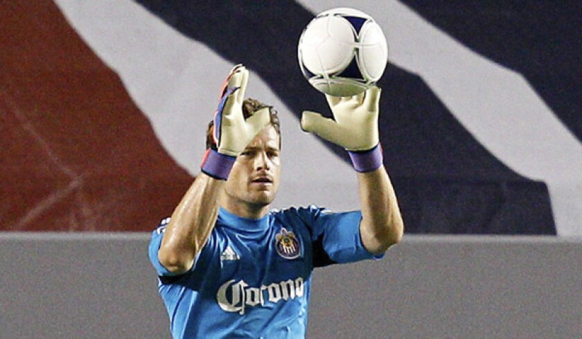 Chivas USA will be without suspended goalkeeper Dan Kennedy against Portland on Sunday.