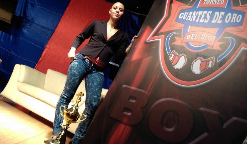 Zulina Muñoz, campeona Supermosca del Consejo Mundial de Boxeo (CMB).