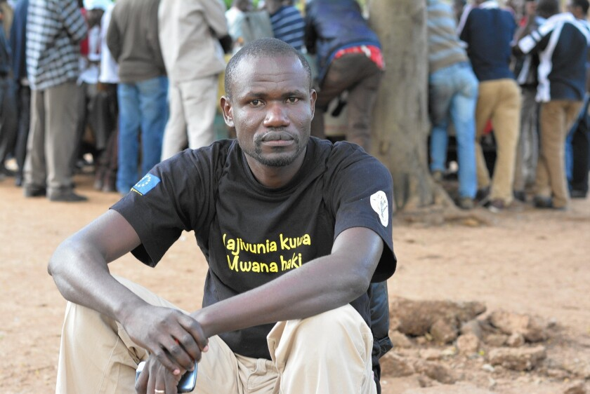 "Wilfred Olal, 35, stumbled across the ""People's Parliament"" in a park in Nairobi, Kenya, in 2006. Soon, he began meeting the group of thinkers and talkers nearly every day to debate the issues of the day."
