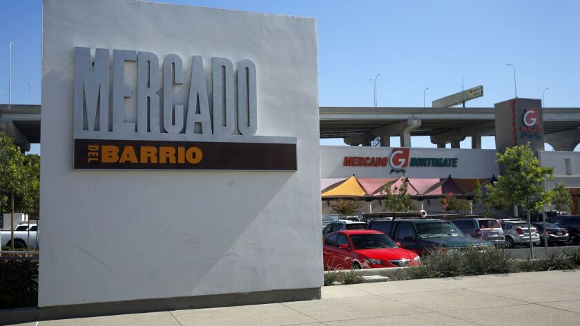 Northgate Gonzalez supermarket anchors the Mercado del Barrio, just west of Chicano Park and the San