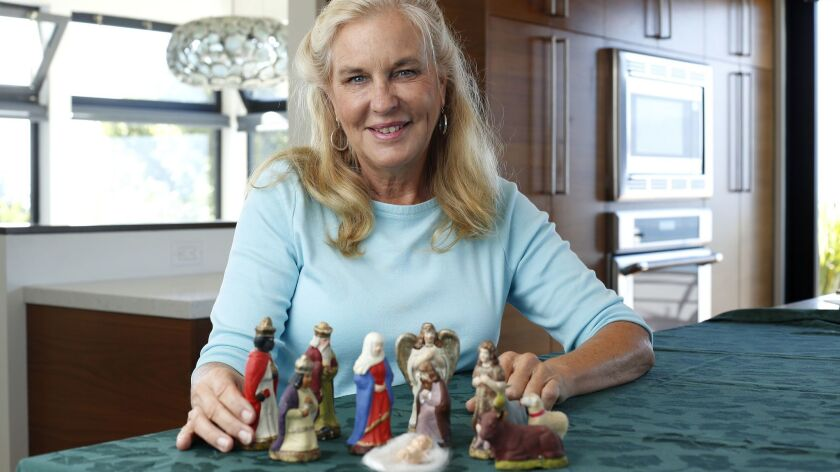 Susan Winkie has a nativity set that dates back over 100 years ago to her great grandmother, shown a