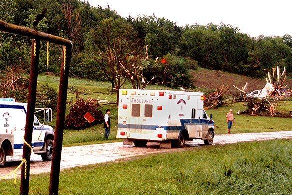 Tornado, ambulance, Boy Scout