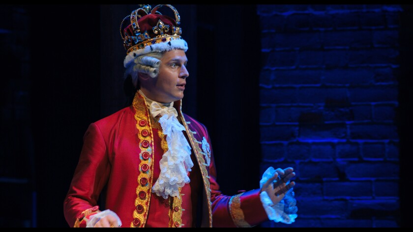 "Jonathan Groff in ""Hamilton."""