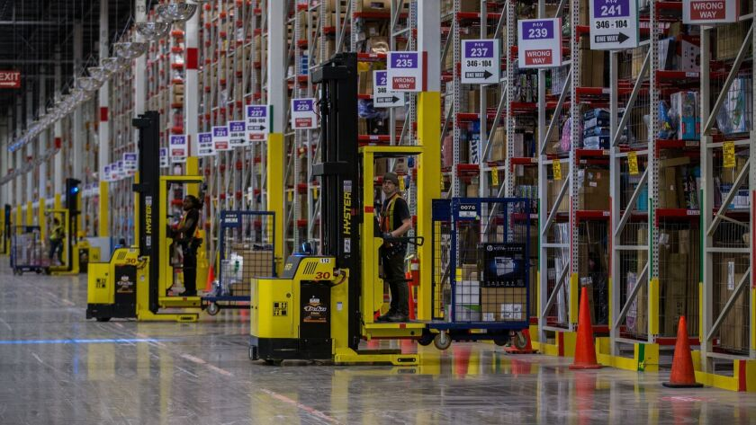 Amazon employees in the Chicago area will get a $2.50-an-hour pay increase as part of a minimum wage bump it has announced. Its operations in Illinois include a fulfillment center in Romeoville.