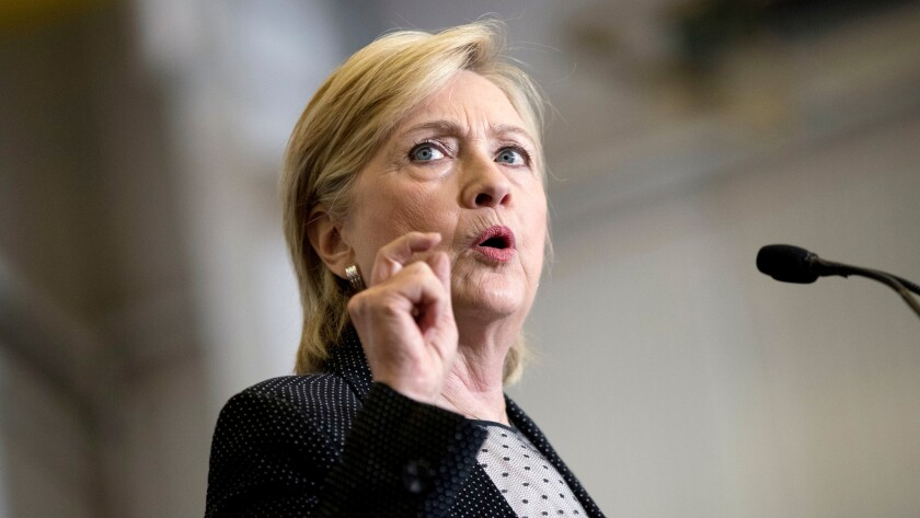 Democratic presidential candidate Hillary Clinton called out Donald Trump and his advisers for embracing an 'alt-right' political philosophy.