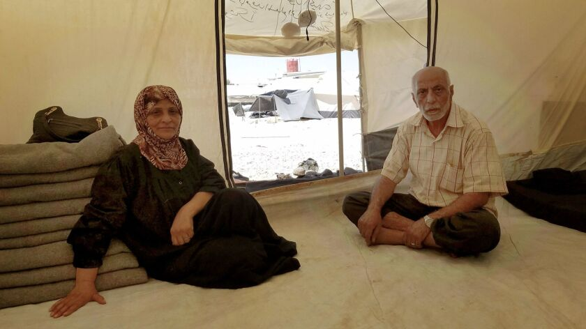 At Al Hol camp in eastern Syria, Mohammed Ragab Nasief, 62, said he hoped to take his family home so