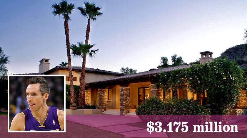 Retired NBA player Steve Nash has sold a home in Paradise Valley, Ariz., for $3.175 million.