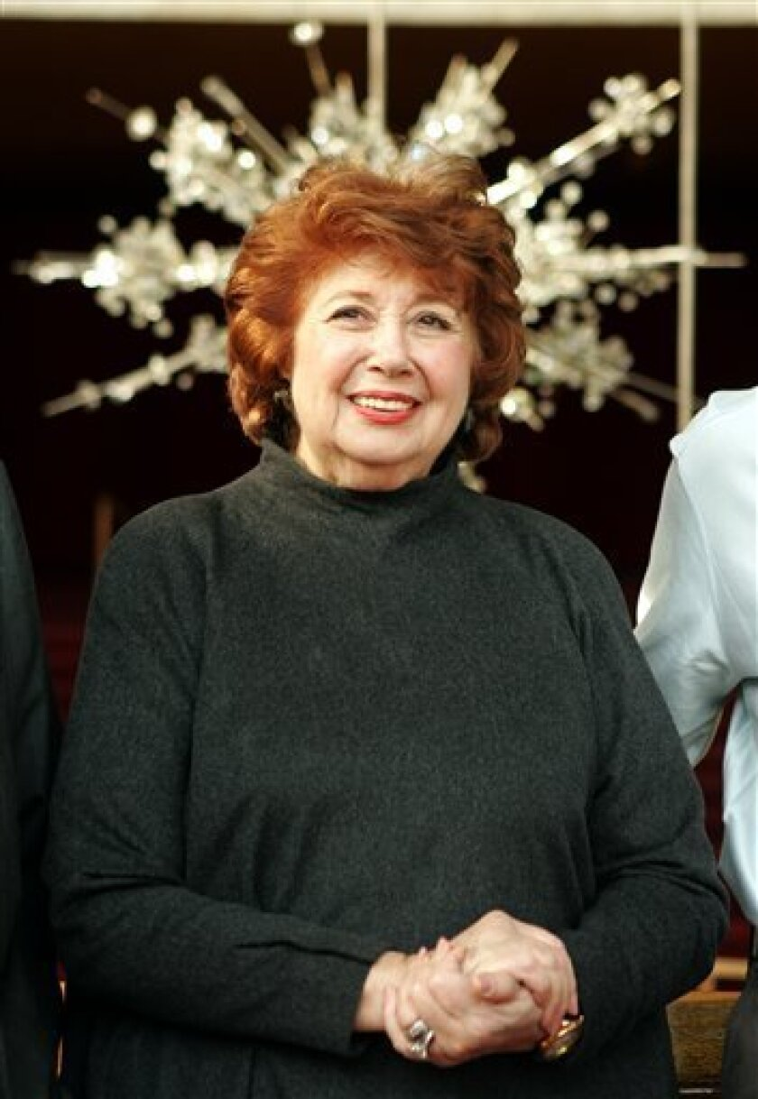 FILE - In this Jan. 16, 2006 file photo, Beverly Sills smiles during a ceremony at the Metropolitan Opera in New York. (AP Photo/Mary Altaffer-File)