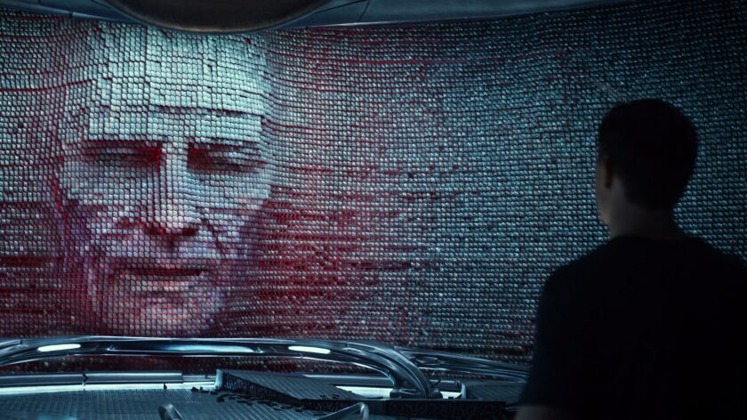 "Bryan Cranston as Zordon in ""Saban's Power Rangers."""