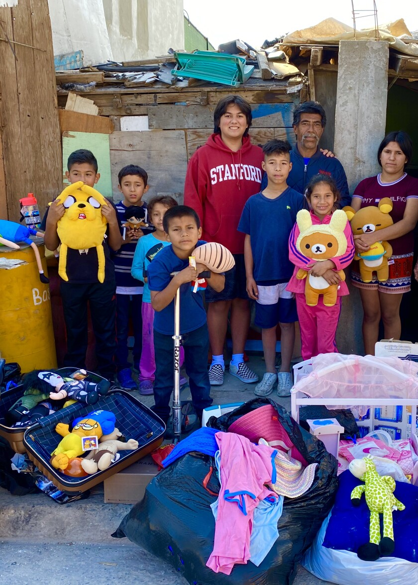 Danny An donated to the Ruiz family in Tijuana in early March.