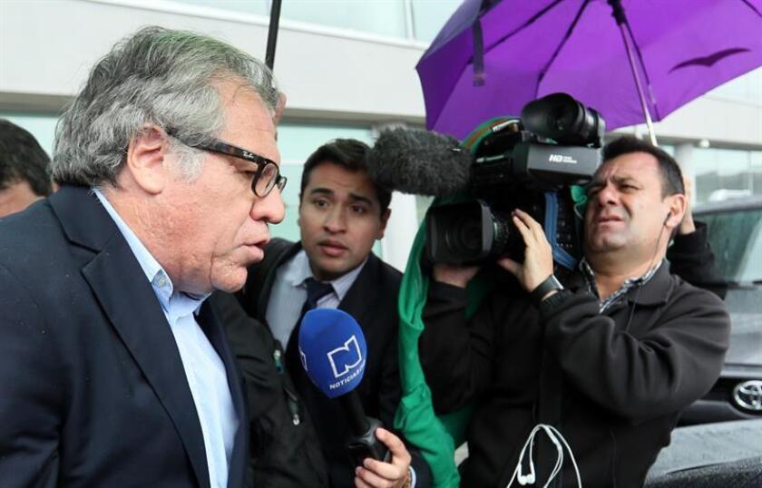 El secretario general de la Organización de los Estados Americanos (OEA), Luis Almagro (i). EFE/Archivo