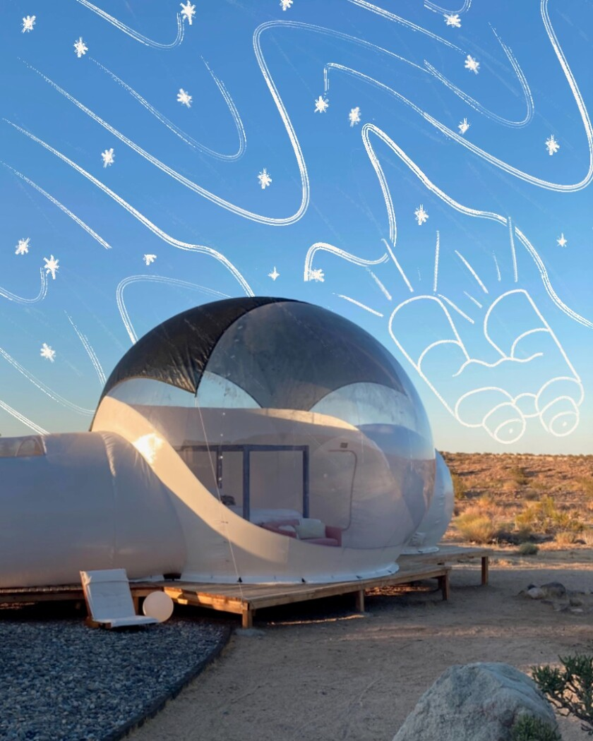This off-the-grid bubble-house offers you all the views a Joshua Tree night sky has to offer, with all the indoor comfort.
