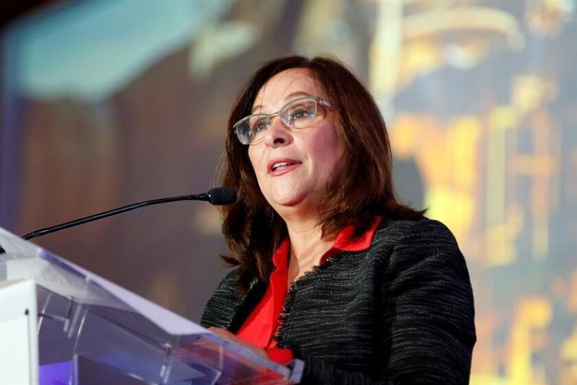 La secretaria de Energía de México, Rocío Nahle, habla este martes durante la Energy Mexico Oil que se celebra en Ciudad de México (México). EFE