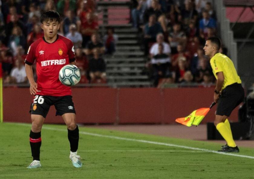 Kubo provoca un penalti en su debut en Son Moix