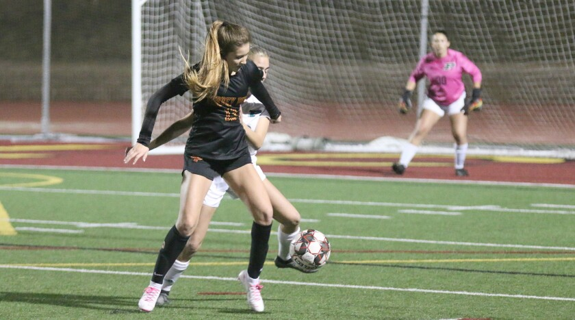 Torrey Pines junior Tatum O'Coyne (13) scored the game's only goal.