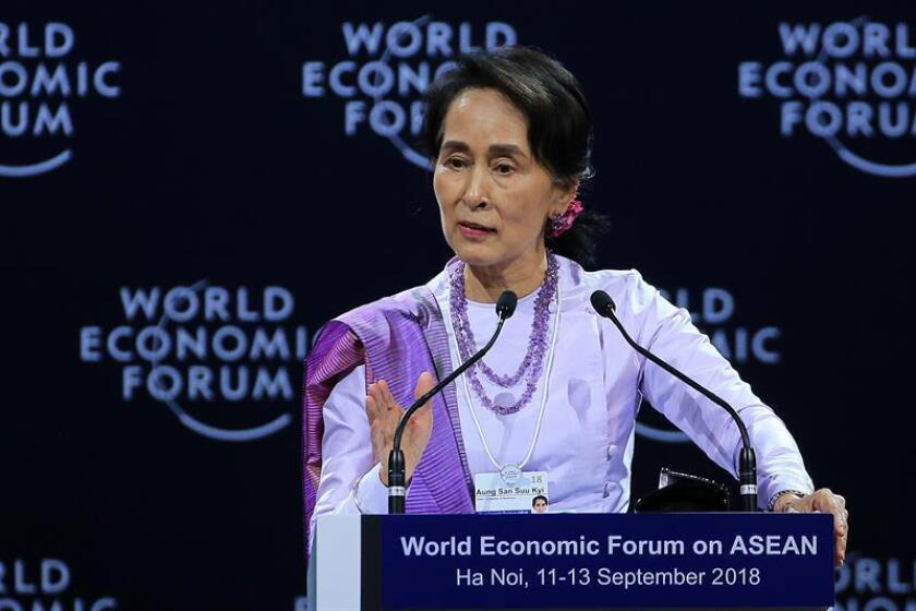 La consejera de Estado de Birmania Aung San Suu Kyi. EFE/Archivo