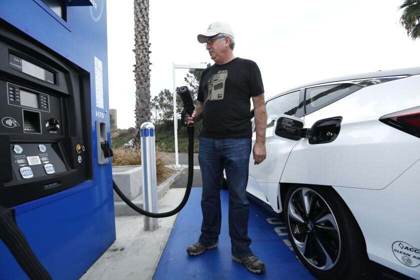 Hydrogen fuel cell filling station.
