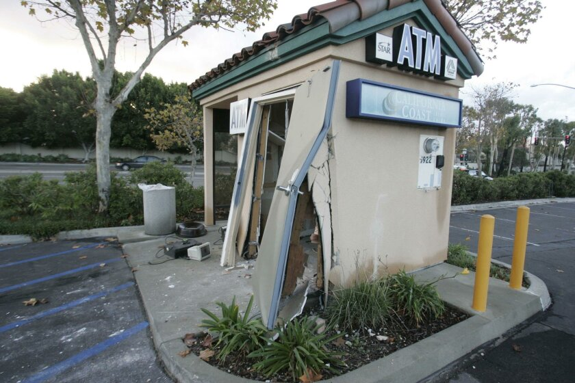 Thieves made away with the contents of an ATM at this California Coast Credit Union kiosk.