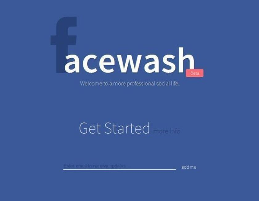 Need to clean up your Facebook profile? Get a 'Facewash'