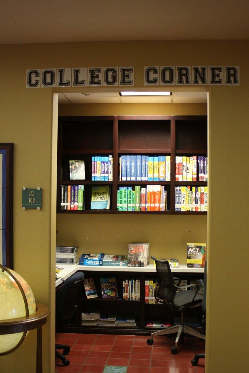 La Jolla Library's College Corner.