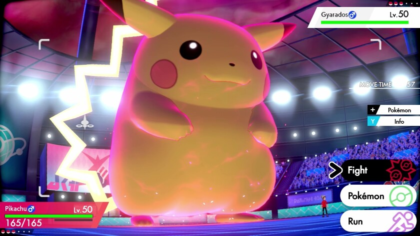 """Battling giant Pokémon is new to the games """"Sword"""" and """"Shield."""""""