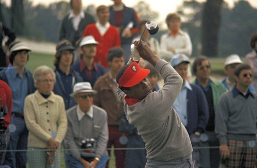 Lee Elder became the first black golfer to play in the Masters in 1975.