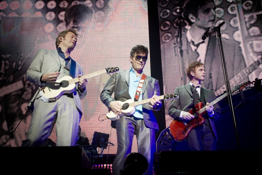 A-ha performs in Oslo on Nov. 30, 2010.