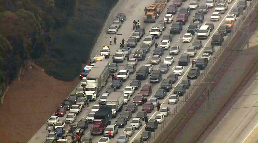 Eastbound lanes of 105 Freeway in Hawthorne reopened after fiery