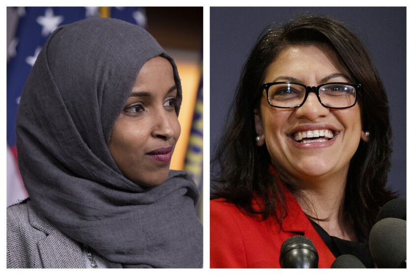 Ilhan Omar, left, and Rashida Tlaib