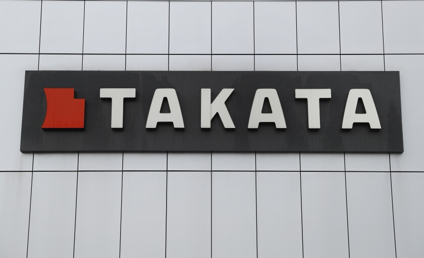 """This Sunday, June 25, 2017, photo shows TK Holdings Inc. headquarters in Auburn Hills, Mich. The U.S. government's highway safety regulator has opened an investigation into a potential problem that surfaced last year with 56 million Takata airbags, but that the agency eventually deemed safe based on industry research. The National Highway Traffic Safety Administration has not posted an official document on the investigation yet, but said that it wasn't aware of any injuries or fatalities due to the problem and that """"the public does not need to take any action."""" The NHTSA said it would publish an official report on the investigation later Monday, Sept. 20, 2021. (AP Photo/Paul Sancya)"""