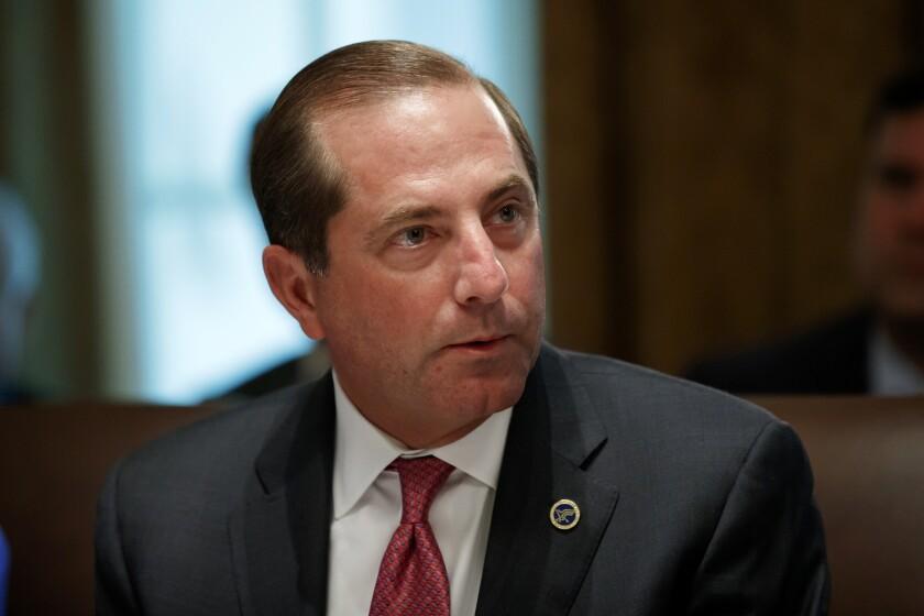 El secretario de Salud y Servicios Humanos Alex Azar el 16 de julio del 2019 en la Casa Blanca en Washington. (AP Photo/Alex Brandon, File)