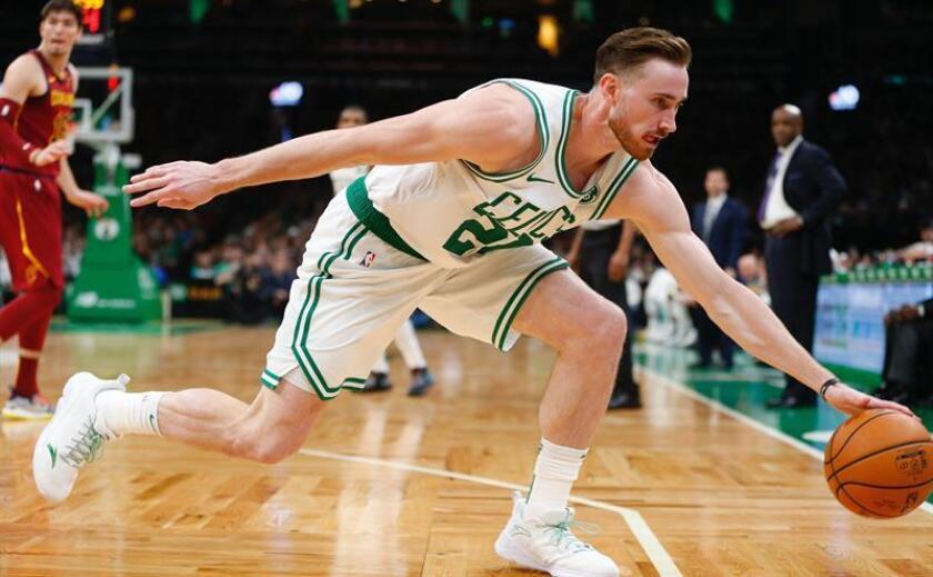 En la imagen, el reserva Gordon Hayward de los Celtics de Boston. EFE/Archivo