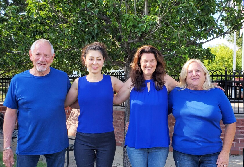 Members of The RISE Concept's board, from left, MacMcCardle, Ping Wang, Terry Norwood and Nancy Pryor.