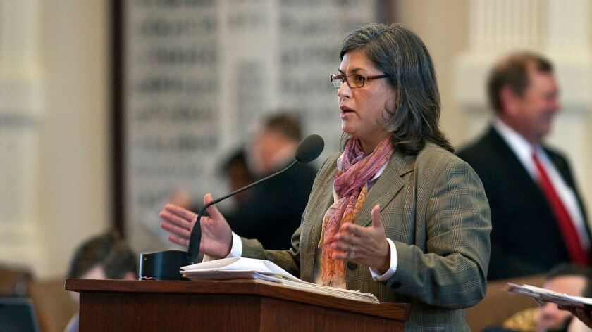 Texas state Rep. Jessica Farrar (D-Houston) debates a 2011 bill at the state Capitol in Austin that required women to get an ultrasound before having an abortion.