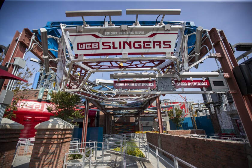 Avengers Campus at Disney California Adventure opens Friday - Los Angeles Times