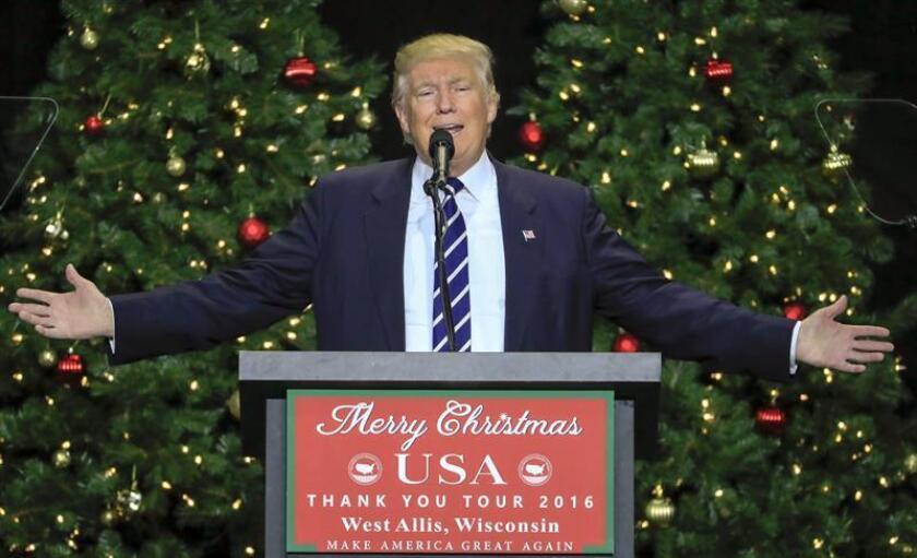 El Comité de la Investidura Presidencial divulgó hoy un programa de actos oficiales relacionados con la toma de posesión de Donald Trump como cuadragésimo quinto presidente del país el próximo enero. EFE/ARCHIVO