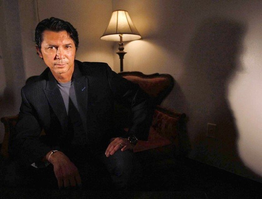 Actor Lou Diamond Phillips at Pete's Cafe and Bar in downtown Los Angeles.