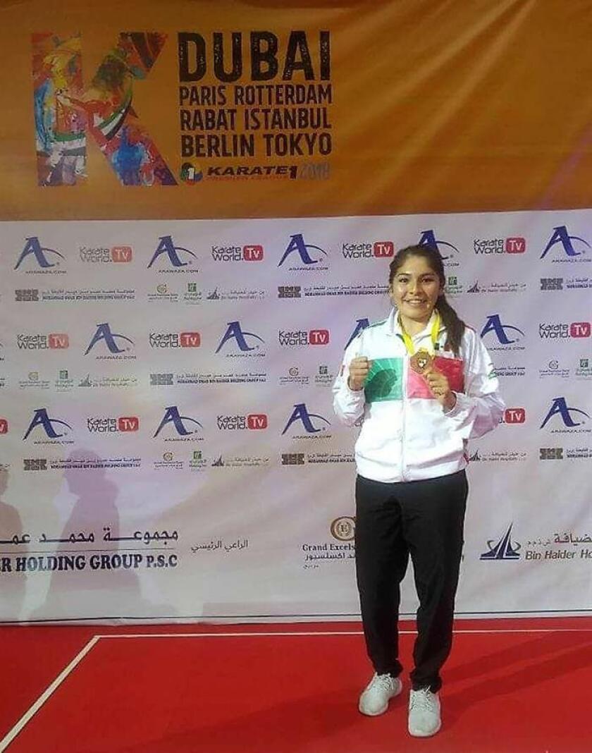 La mexicana Guadalupe Quintal, quien este domingo ganó bronce en el Campeonato Mundial de Dubai, el llamado Karate 1-Premier League 2018, señaló hoy que su meta es asistir a los Juegos Olímpicos Tokio 2020. EFE