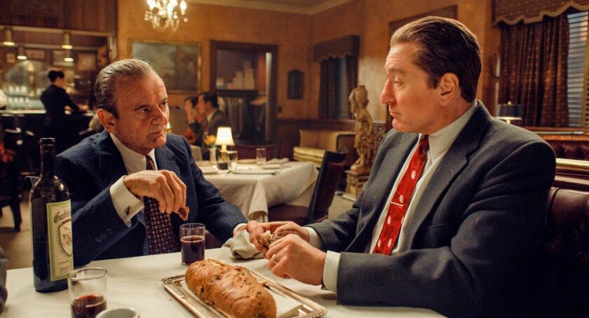 "Joe Pesci and Robert De Niro are Oscar contenders for ""The Irishman."""