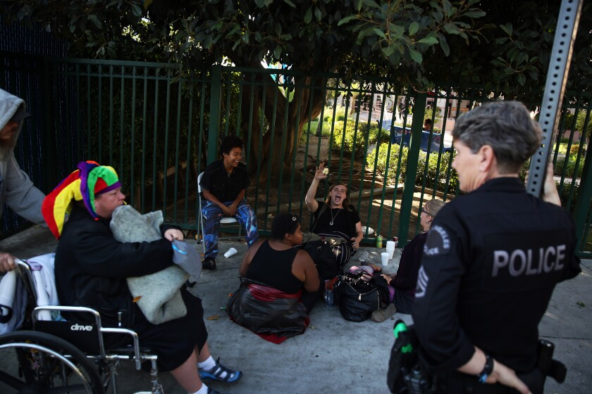 Homeless camp in Hollywood