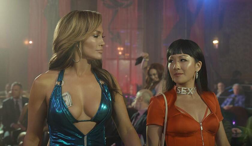 "Jennifer Lopez and Constance Wu in ""Hustlers"""