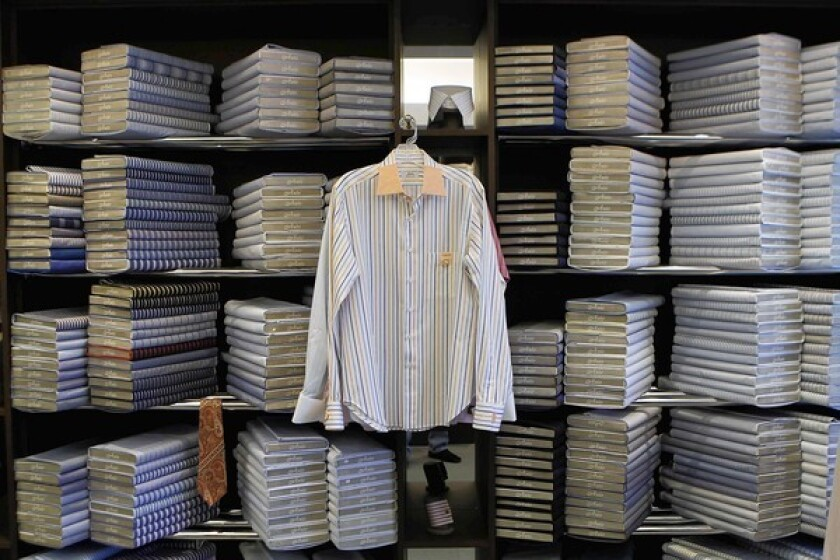 Anto Distinctive Shirtmaker has more than 10,300 patterns on file and takes more than 20 measurements to custom-make a man's shirt.