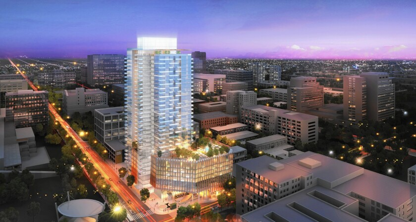 Equity Residential plans to break ground next year on a high-rise apartment tower at 4th and Hill streets in downtown Los Angeles.